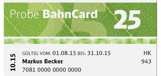 Bahncard 25 im Monats-Abo
