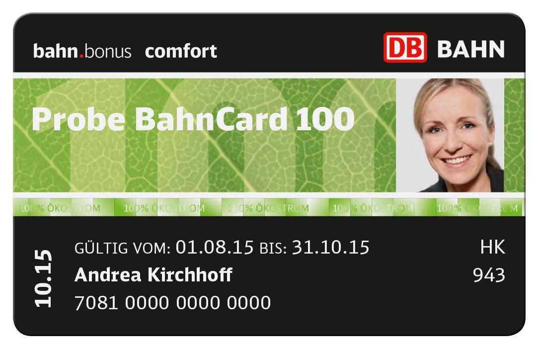 Probe Bahncard 100 2. Klasse
