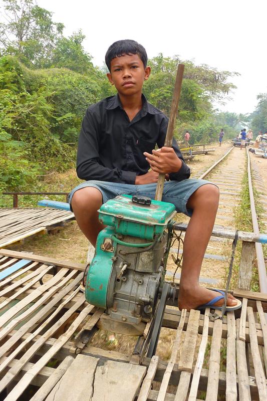 Motor des Bambuszugs