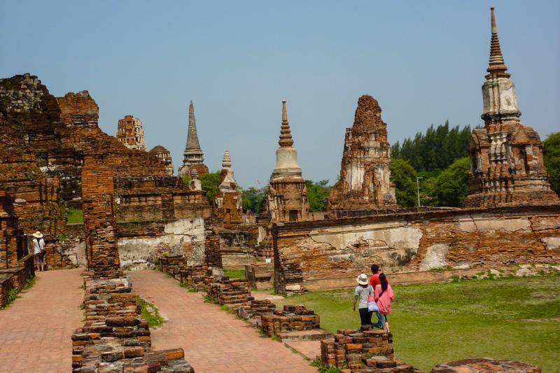 Ruinen in Ayutthaya, Nordthailand