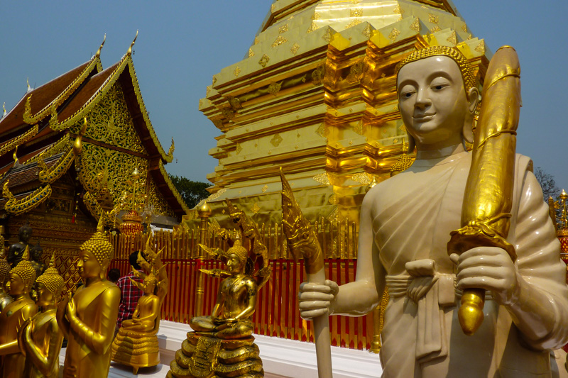 Thailand Norden: Tempel in Chiang Mai