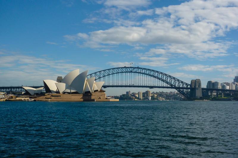 Work And Travel in Australien: Sydney Opera House und Harbour Bridge
