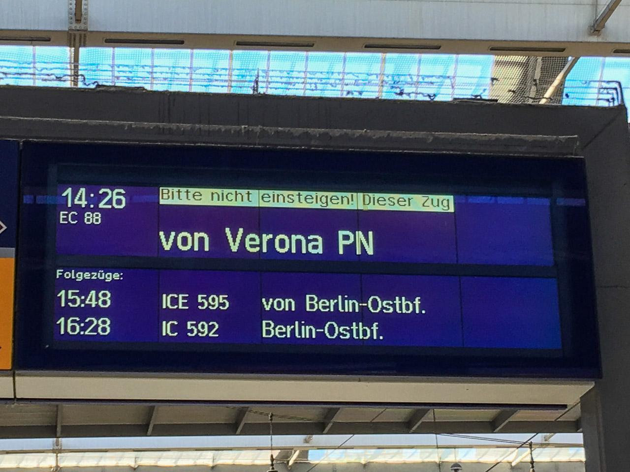 Zugverbindung suchen