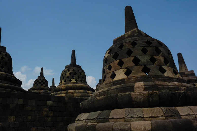 Borobudur auf Java Indonesien