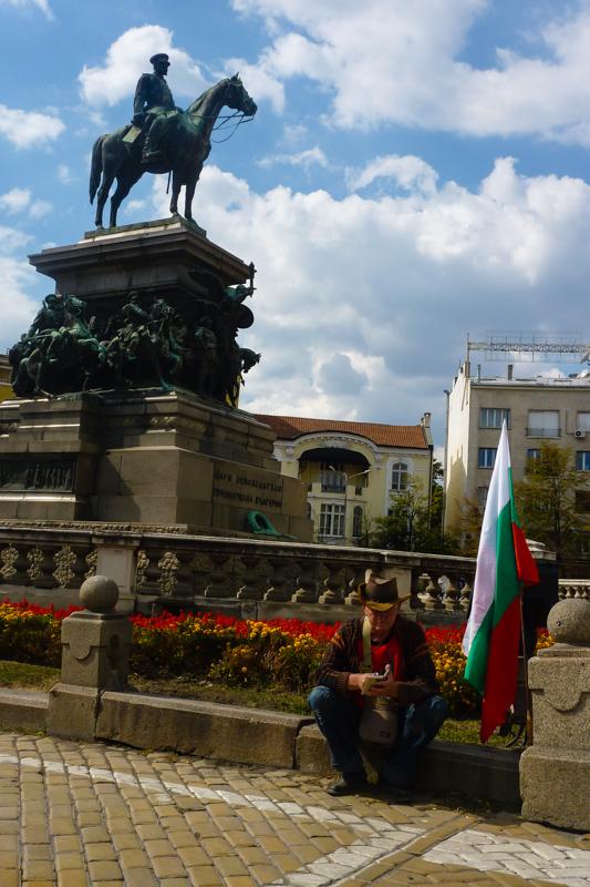 Mann in Sofia.