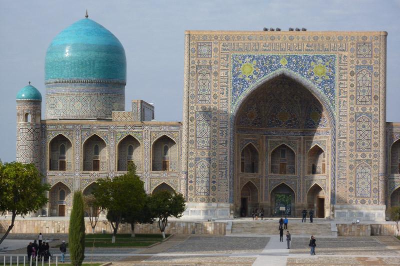 Sehenswürdigkeit in Samarkand: Der Registan.