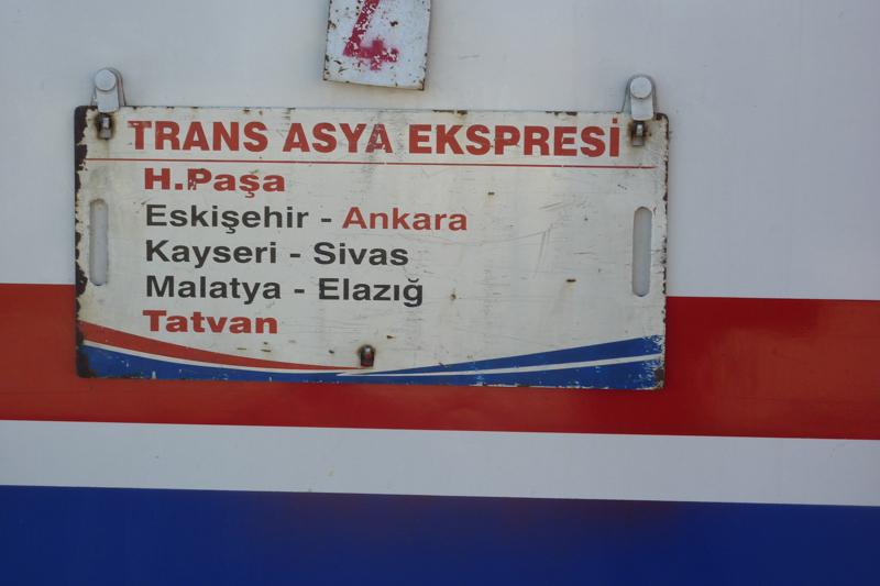 Zuglauf des türkischen Zugteils des Transasia-Express