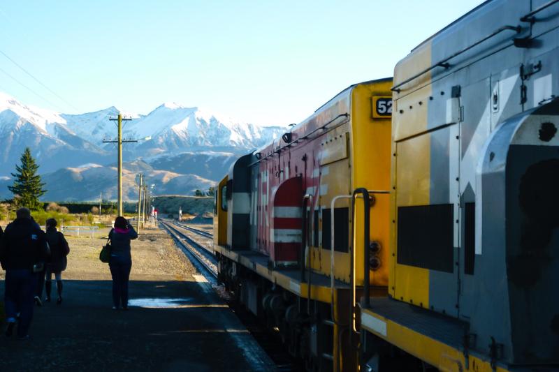 TranzAlpine: Blick auf die Alpen