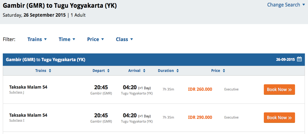 tiket.com: Zugtickets für Indonesien kaufen