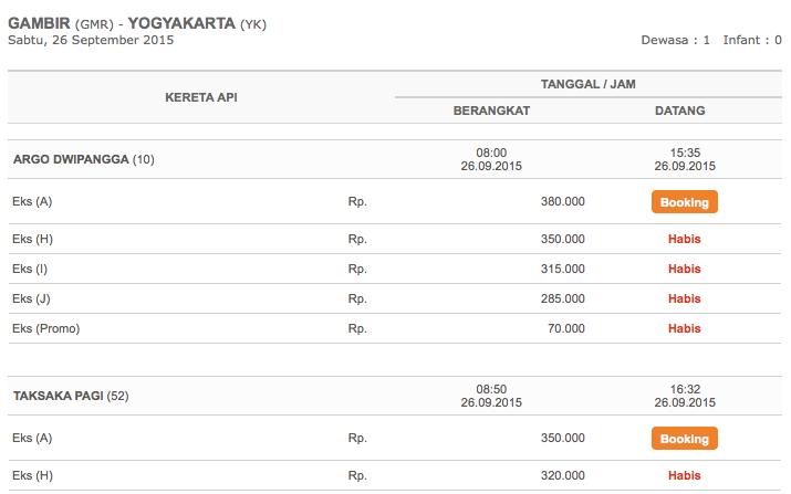 Zugtickets in Indonesien über offizielle Eisenbahnseite
