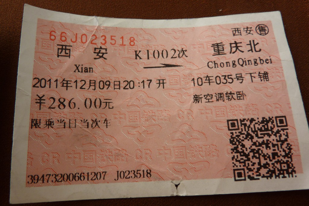 China Zugticket