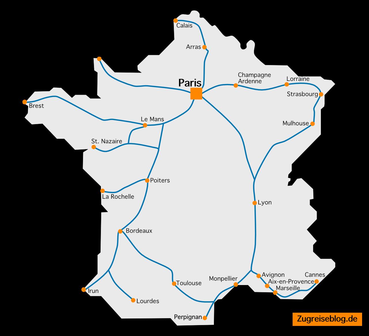 TGV Streckennetz