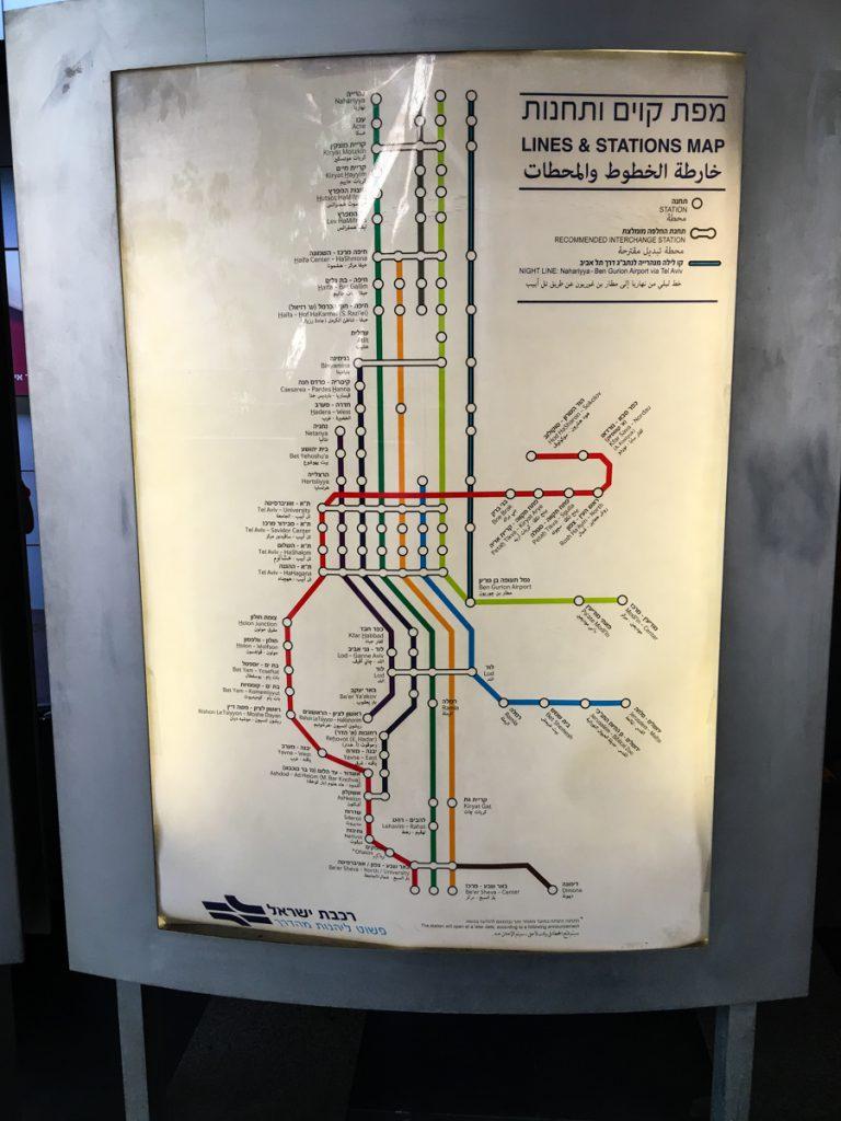 Zuglinien in Israel