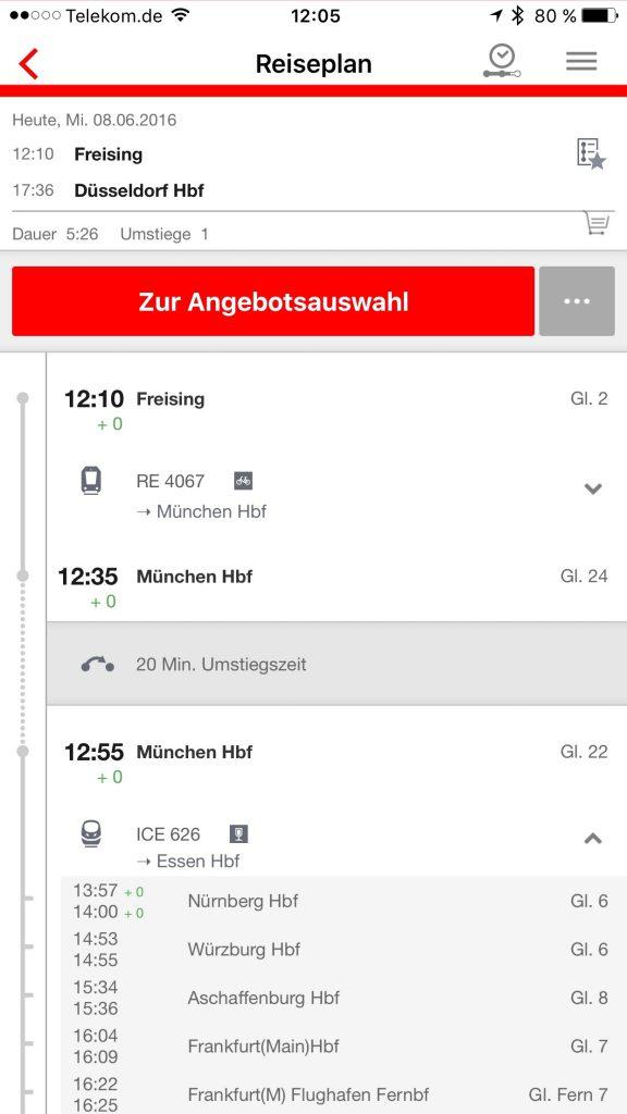 Fahrplanauskunft mobil - DB Navigator