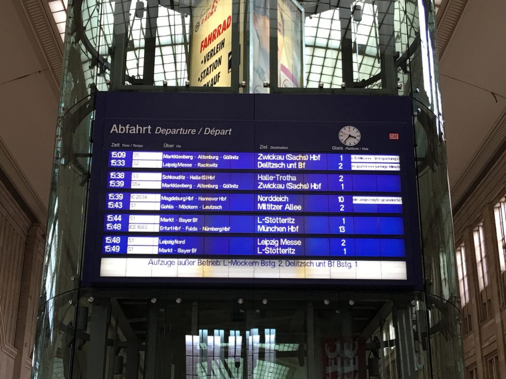 Bahn Verspätung