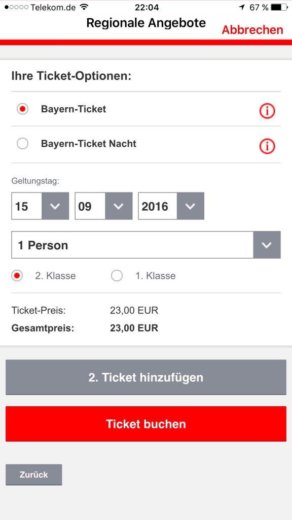 Bahn App mobile Angebote