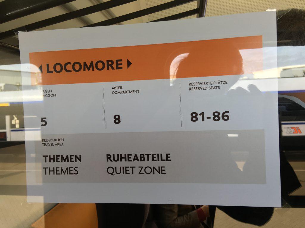 Ruheabteil Locomore