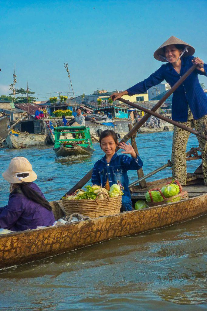 Schwimmender Markt Cai Rang