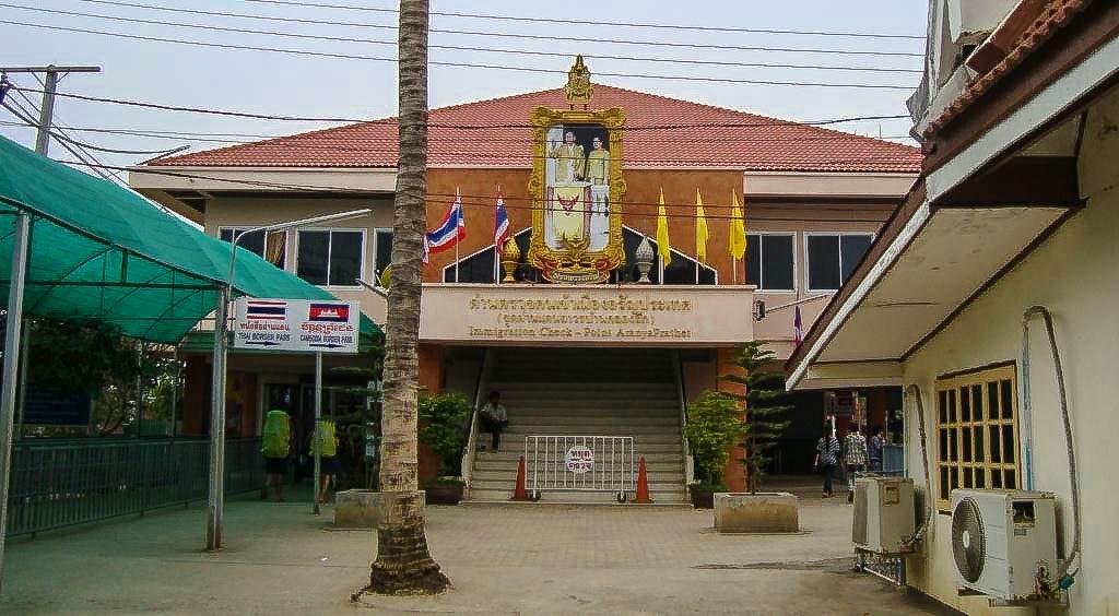Zug Thailand Kambodscha