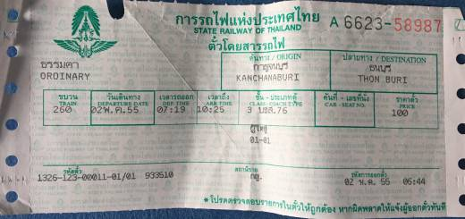Thailand Zugticket