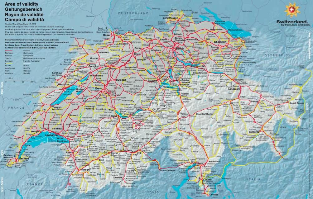 Swiss Travel Pass Geltungsbereich