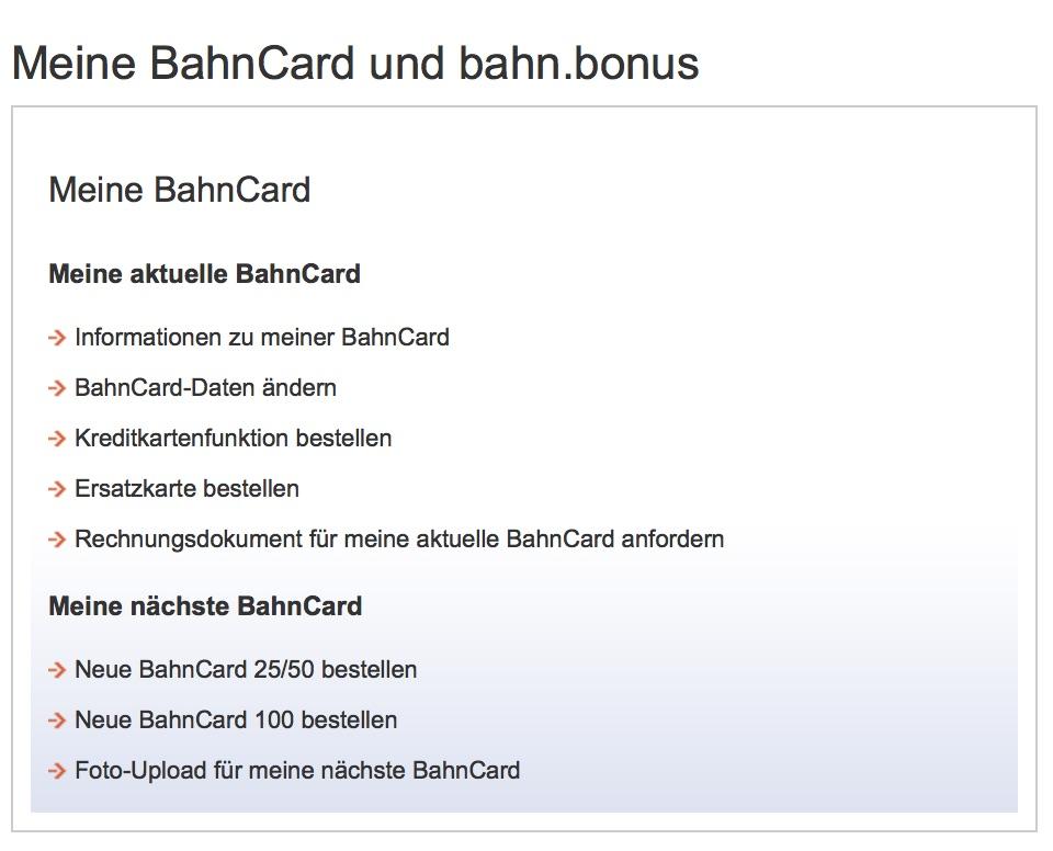 Ersatz BahnCard online beantragen