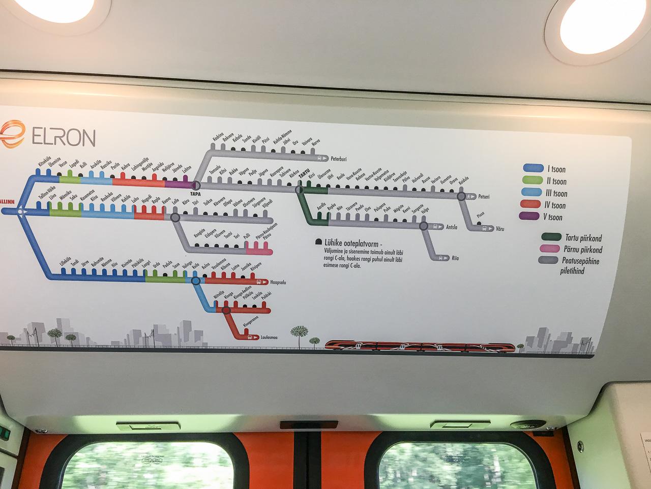 Eisenbahnnetz Estland