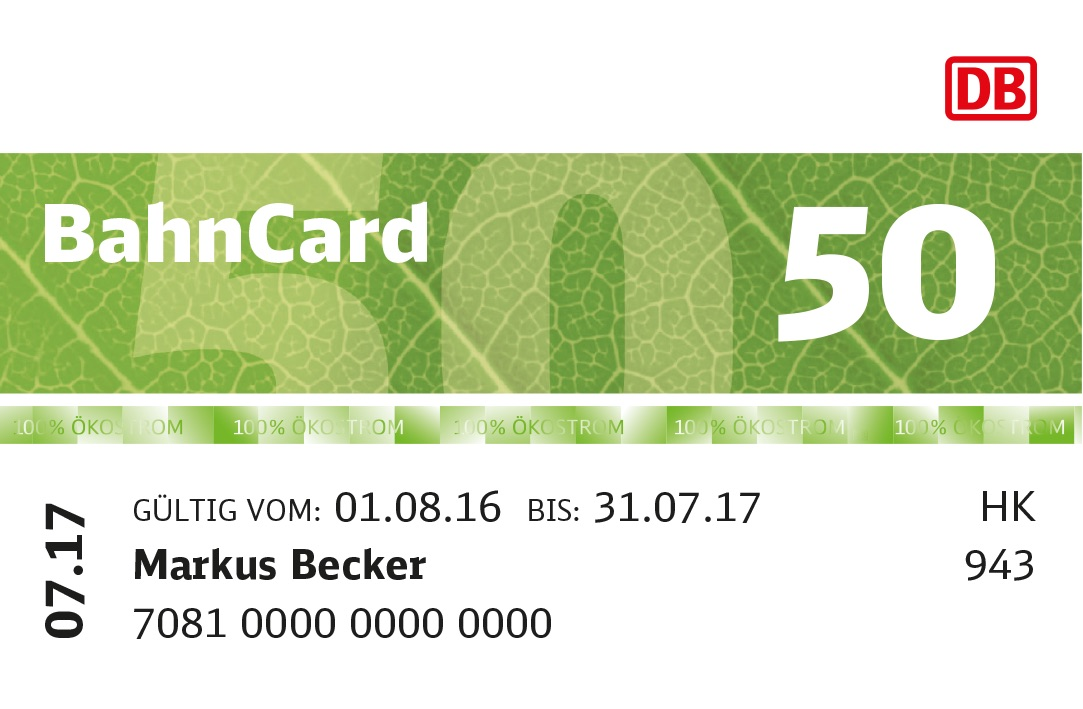 BahnCard Upgrade