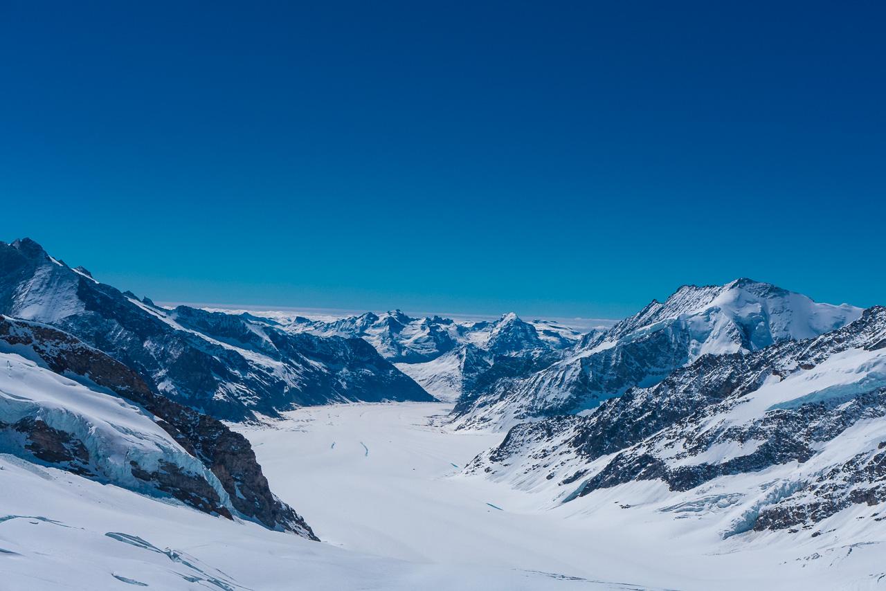 Jungfraujoch Ausblick Alpen