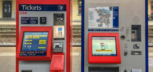 Bahn Fahrkartenautomaten