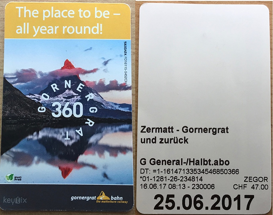 Gornergratbahn Ticket