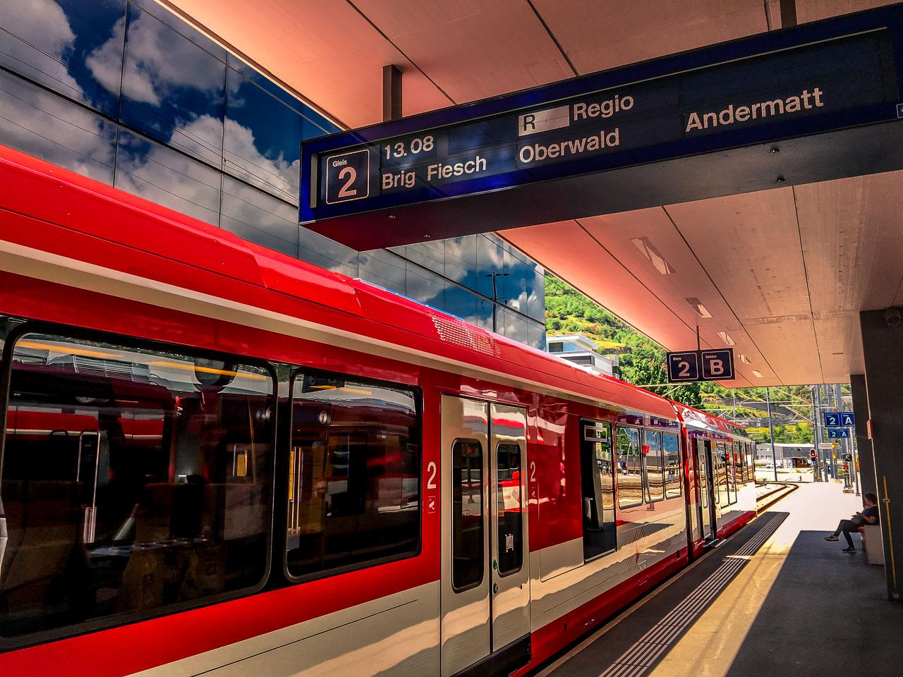 Zug Zermatt Sankt Moritz