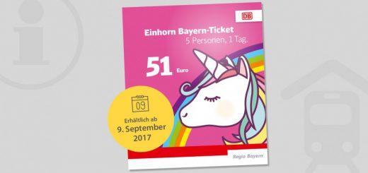 Einhorn Bayern-Ticket
