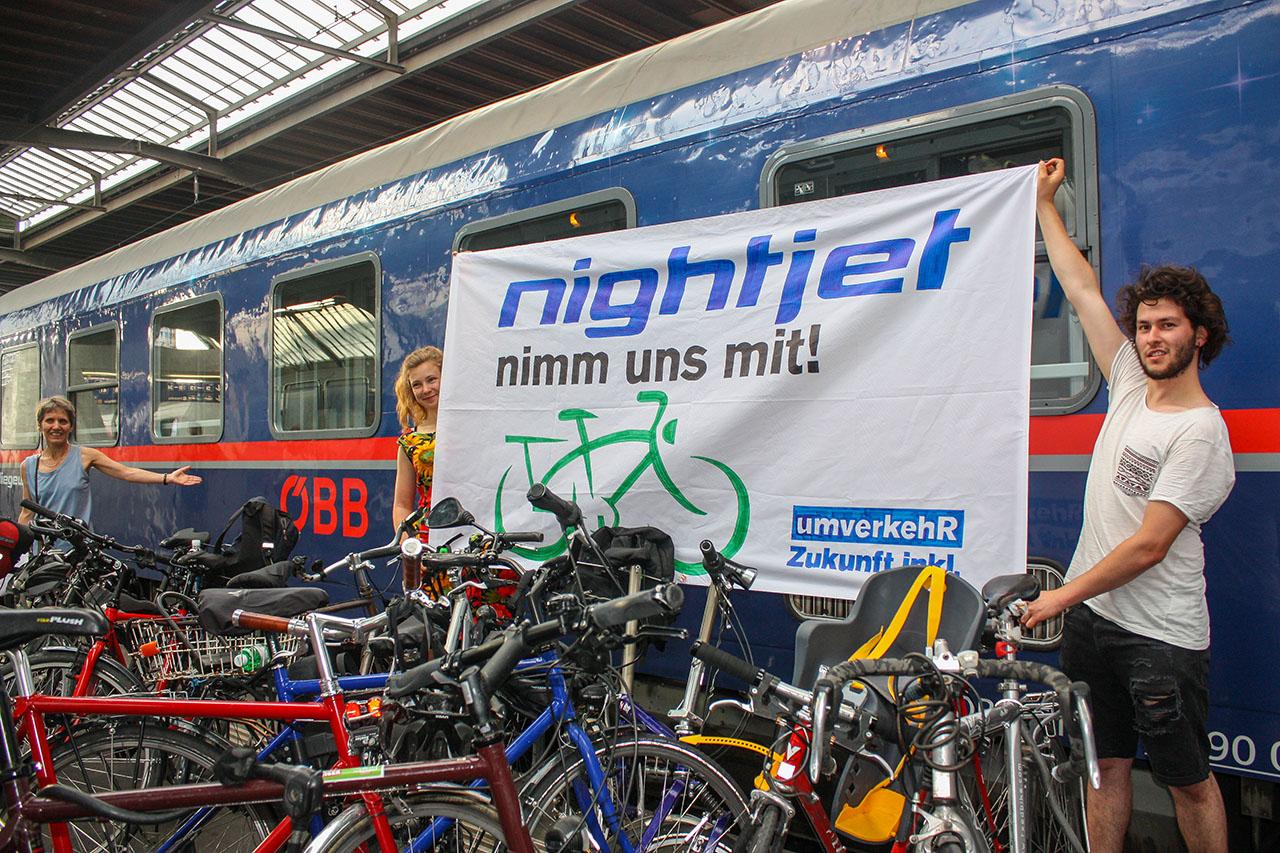 Nachtzug Fahrrad