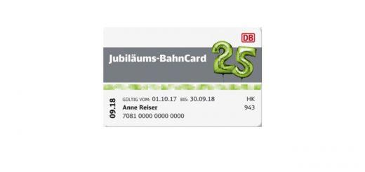 Jubiläums-BahnCard