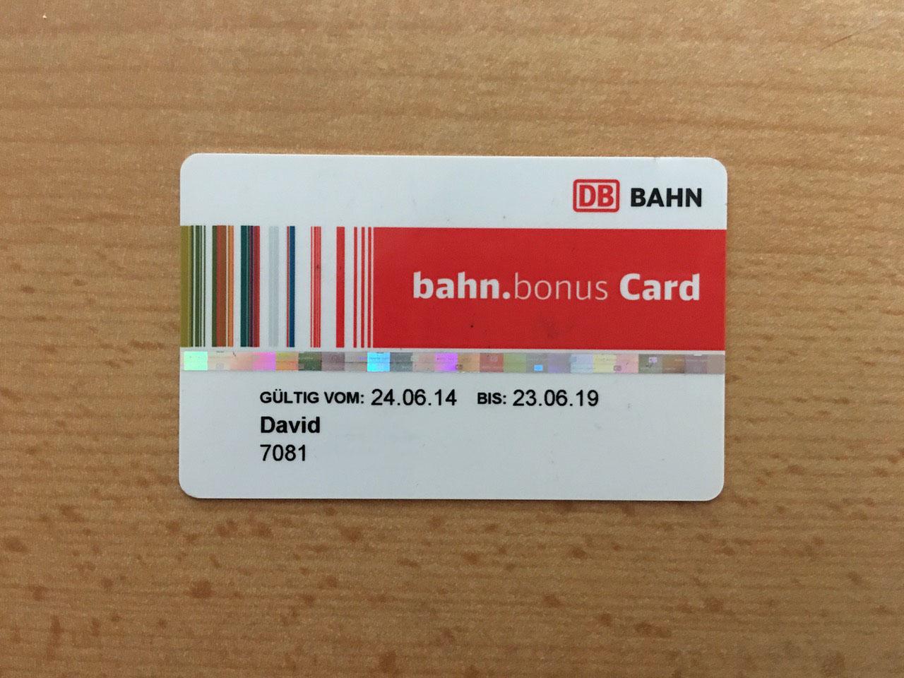 bahn.bonus Prämienprogramm