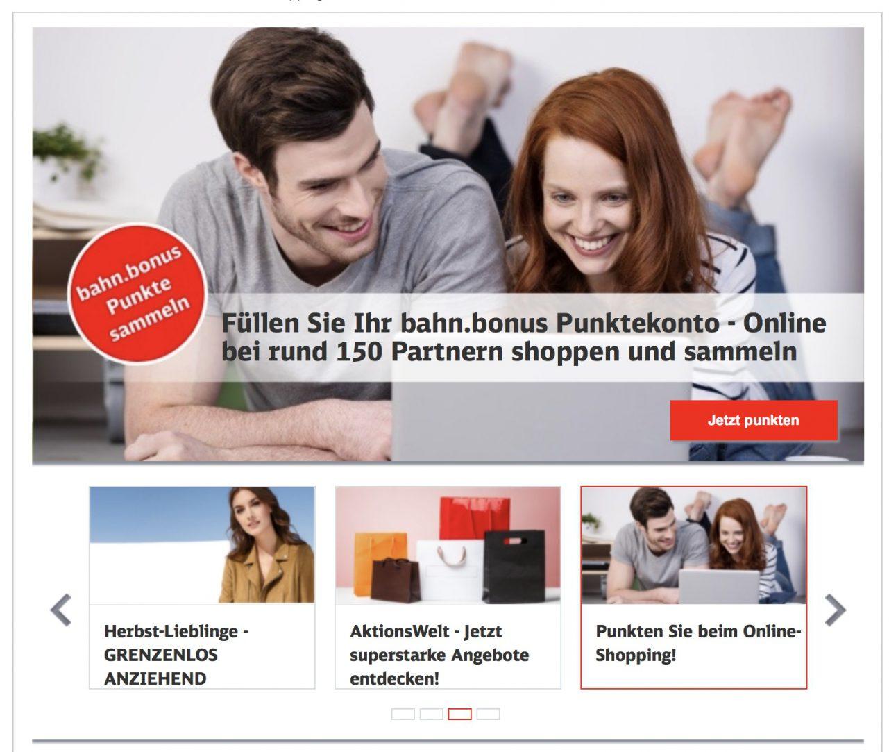 BahnBonus ShoppingWelt