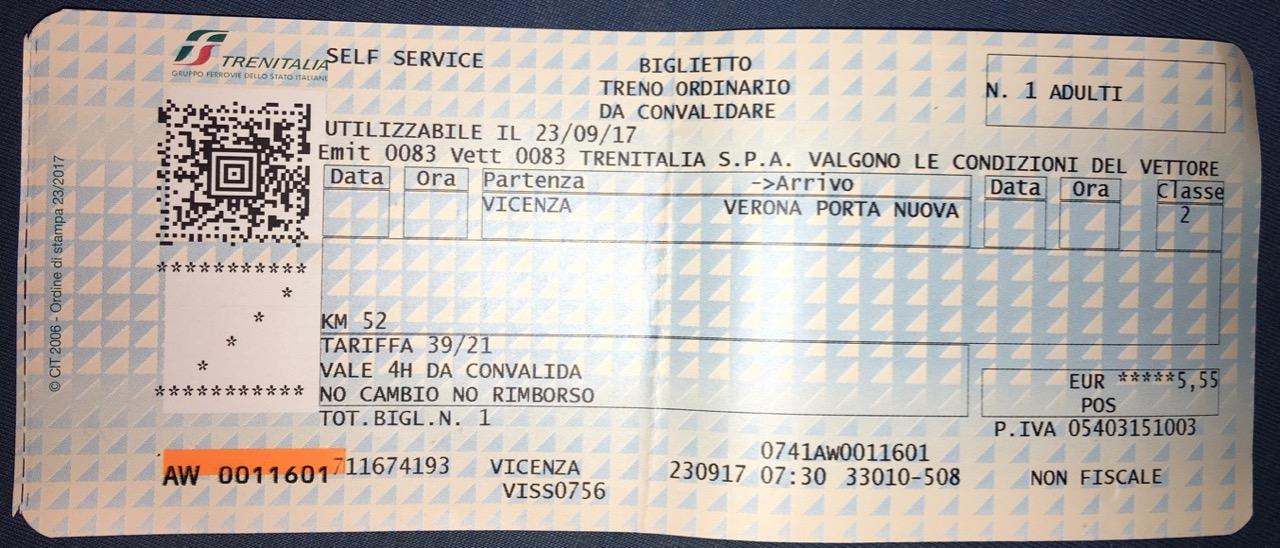 Fahrkarte Italien