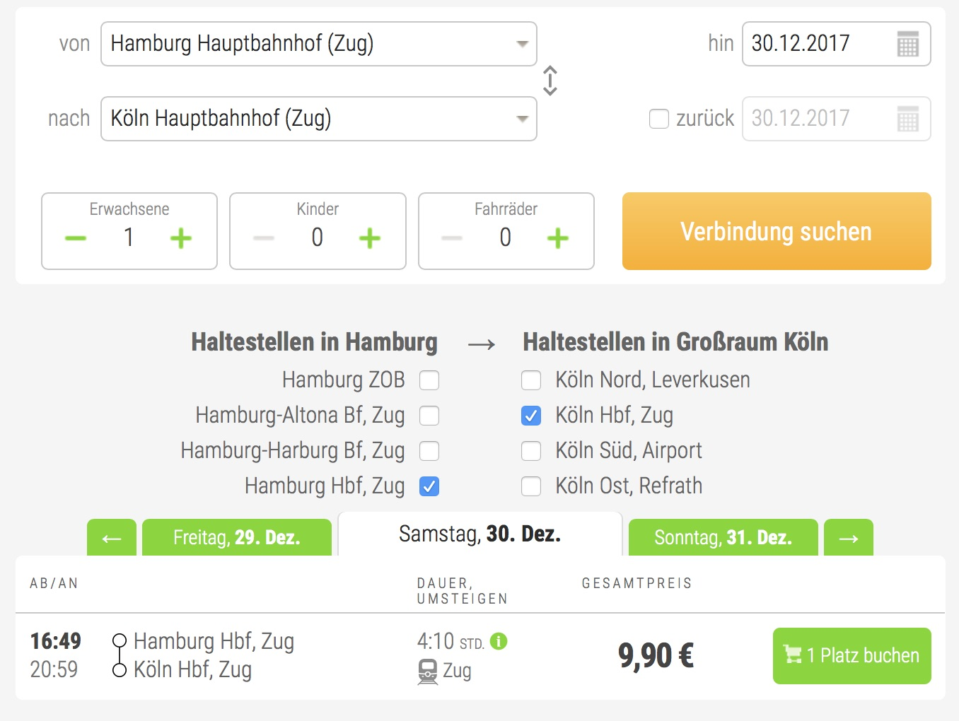 HKS Tickets Flixbus