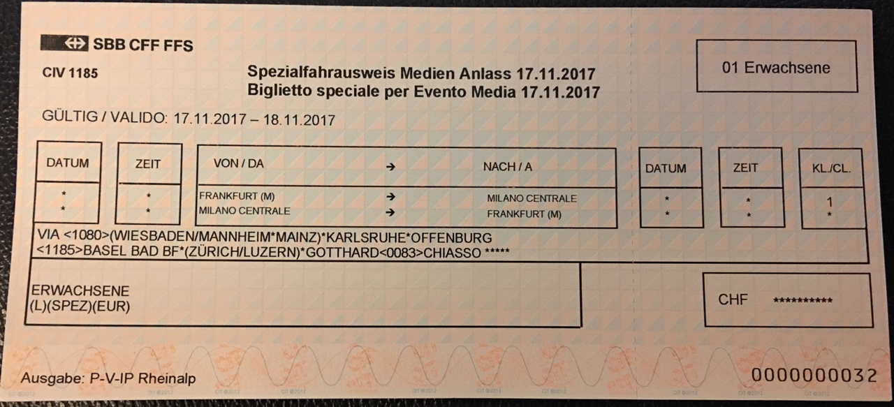 Ticket Eurocity-Express