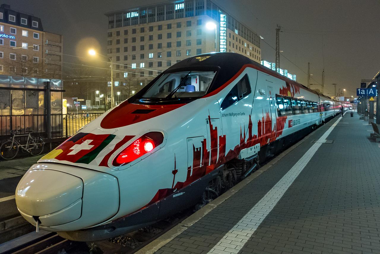 Zug Frankfurt Mailand