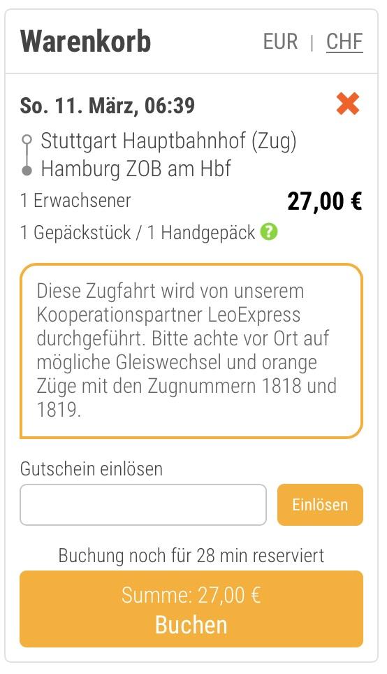 Locomore Flixbus Gutschein