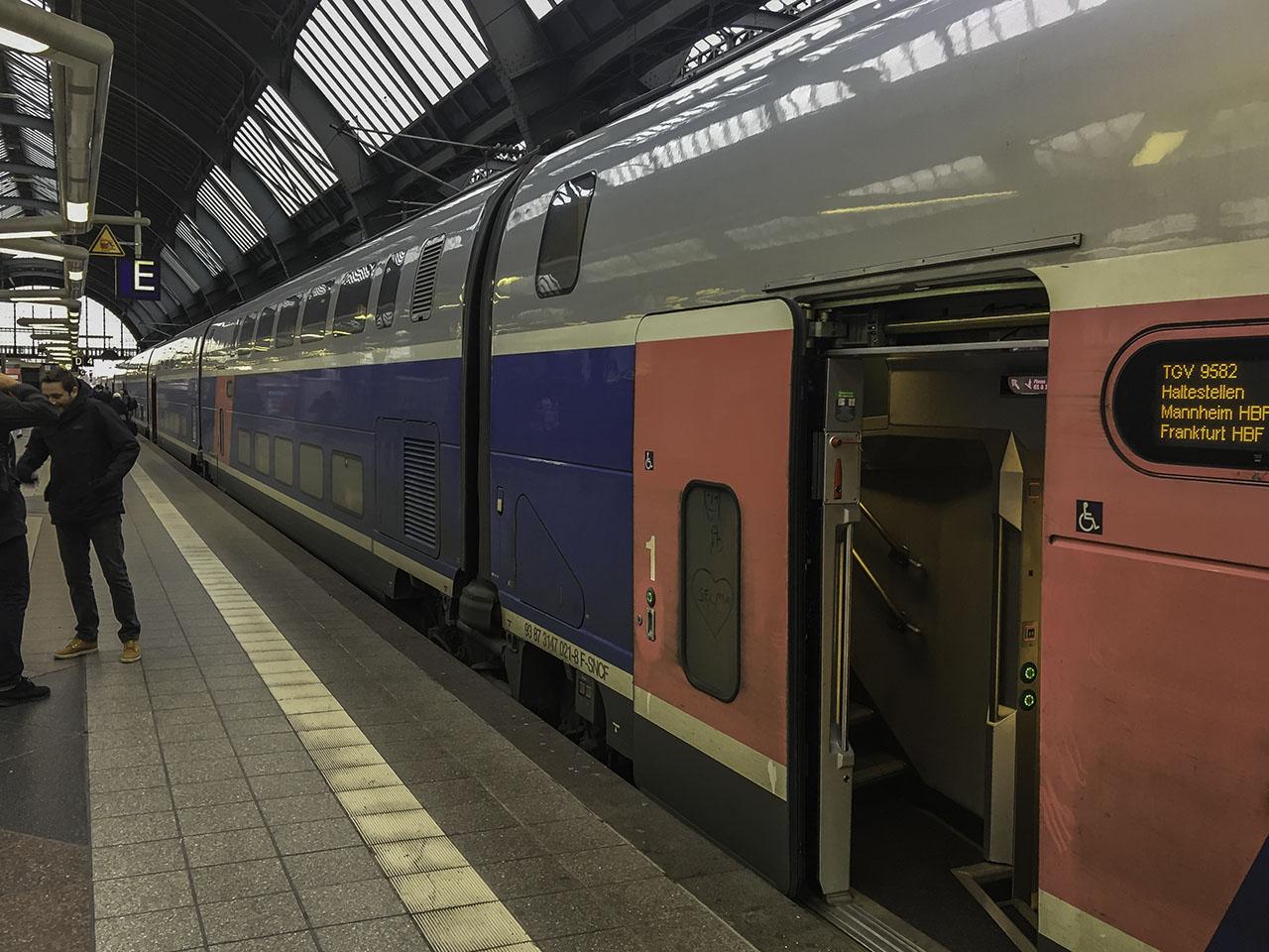 Zug Deutschland Südfrankreich