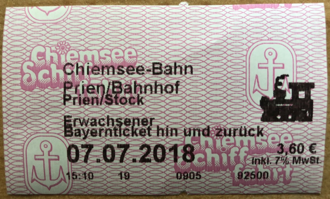 Chiemseebahn Ticket