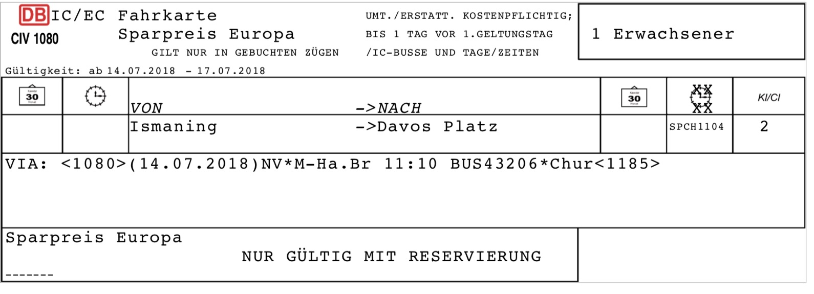 Davos Ticket