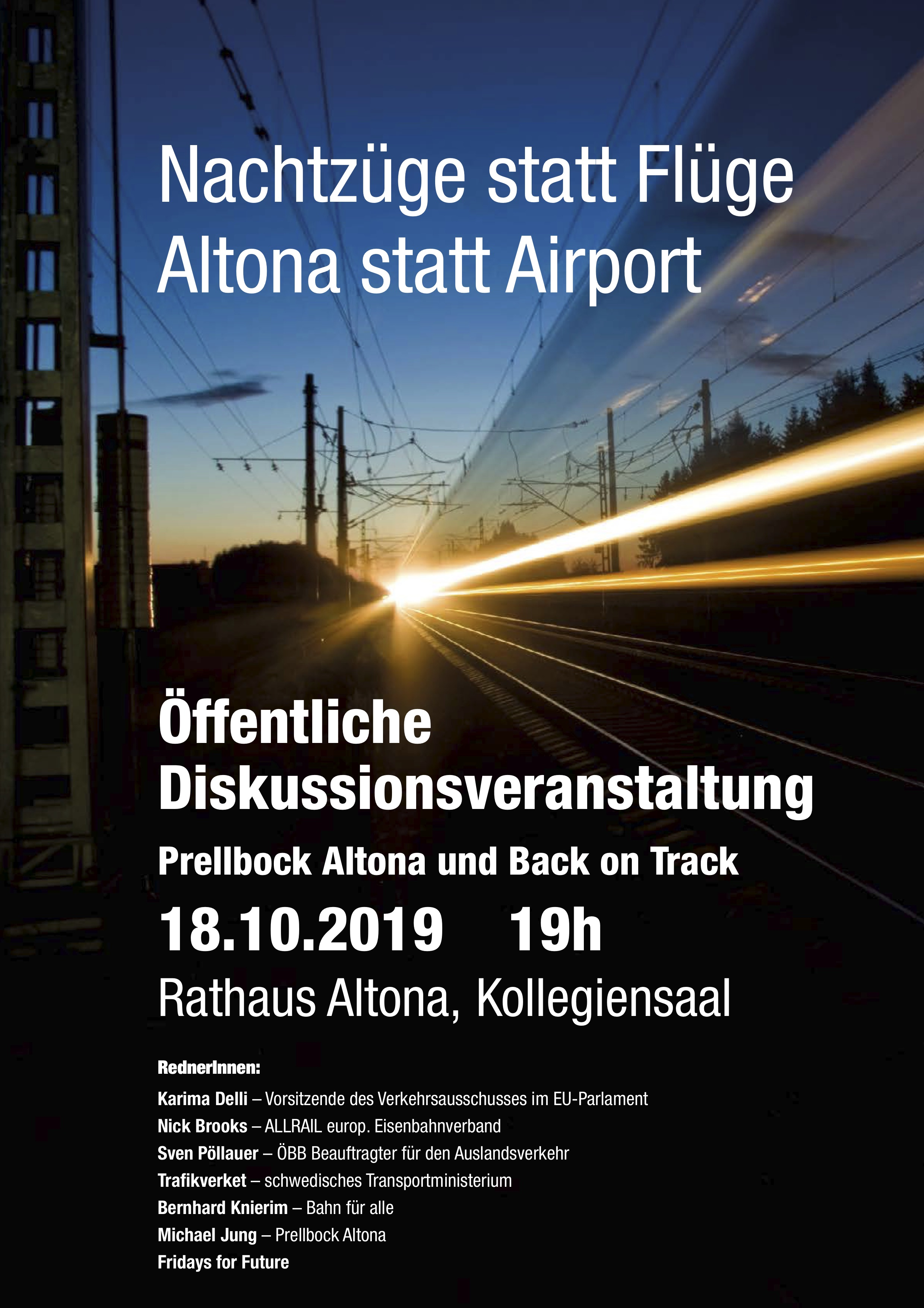 Nachtzug-Konferenz in Hamburg-Altona